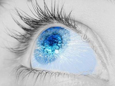 Стихи про голубые глаза девушки